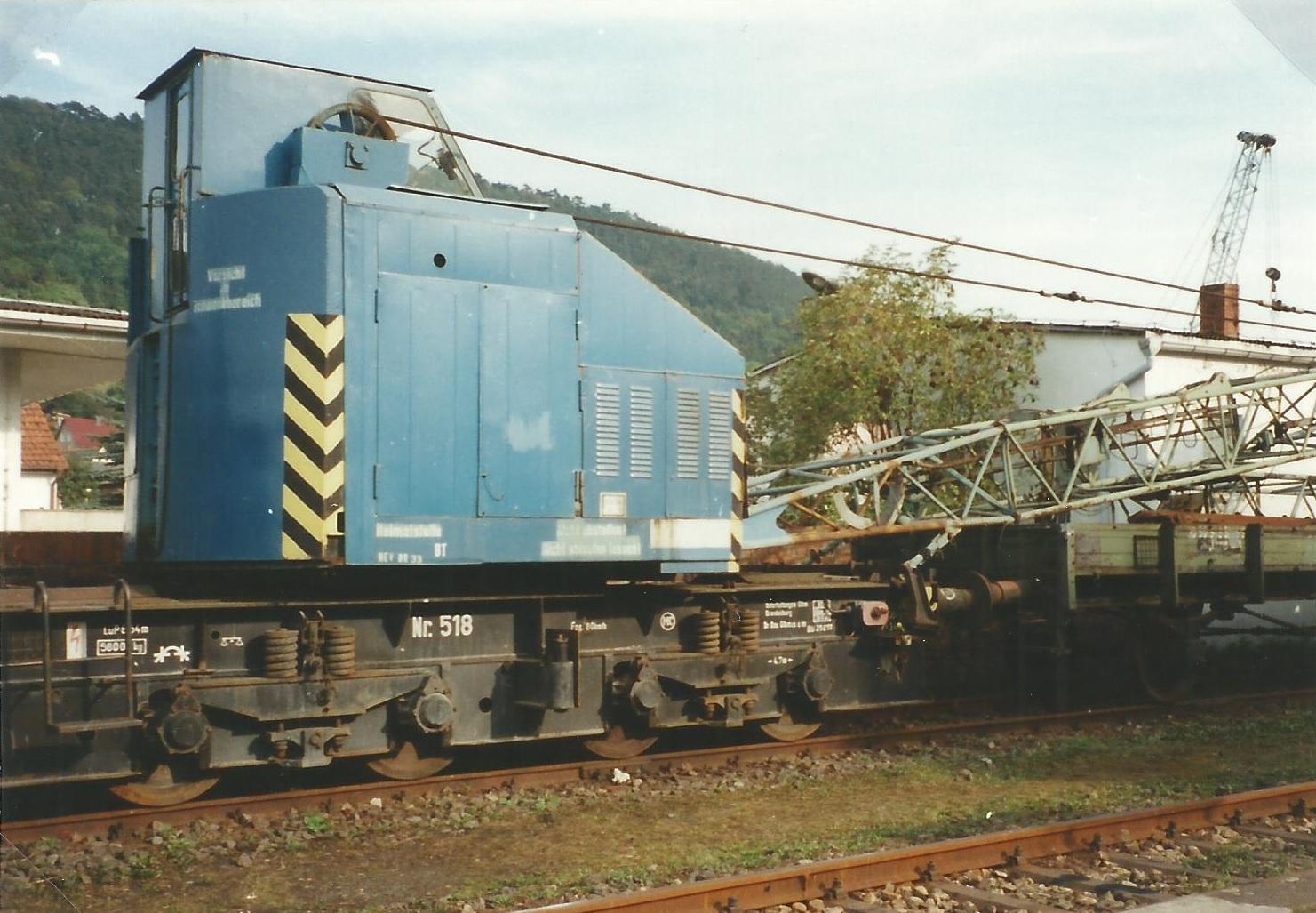 Eisenbahn-Drehkran EDK 80/3
